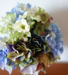 あじさいのラウンドブーケ&ブートニア♪ |Ordermade Wedding Flower Item MY FLOWER ♪ まゆこのブログ