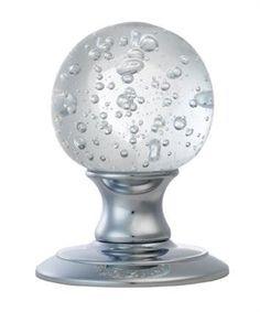 Ice Bubble Crystal Door Knob