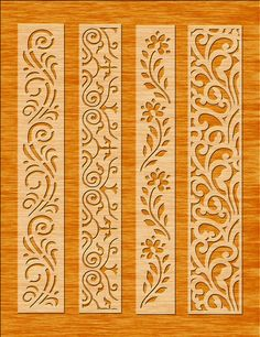 8 Border Cutting File For Laser Cnc & Plasma Cricut Floral image 5 Wood Craft Patterns, Stencil Patterns, Stencil Designs, Mural Floral, Floral Wall, Cnc Plasma, Wood Panel Walls, Panel Wall Art, Laser Cnc