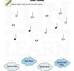 Music Worksheets – Thanksgiving – Note Value Learning Music Notes, Music Education Lessons, Music Math, Music Lessons For Kids, Music For Kids, Teaching Music, Music Music, Music Theory Worksheets, Kids Math Worksheets