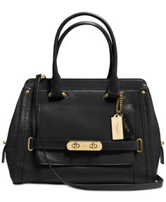 076672e816 Coach Swagger Frame Satchel In Calf Leather Calf Leather