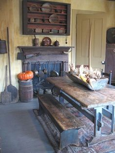 Primitive dining for fall..