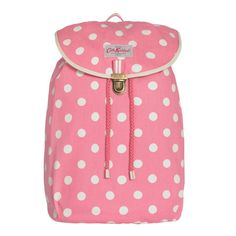 Cath Kidston pink button spot cotton backpack