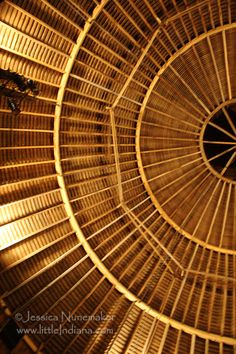Bare bones of an Amish Round Barn roof?: Images from Amish Acres Round Barn Theater in Nappanee, #Indiana