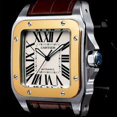 Santos de CARTIER - El tiempo de la nueva era. Este clásico de CARTIER sigue siendo de los favoritos gracias a su elegancia y formas simétricas.