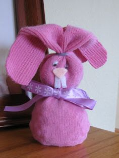 Easter crafts - sock bunny