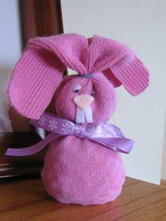 Easter crafts - sock bunny,  Go To www.likegossip.com to get more Gossip News!
