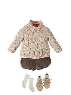 L' intramontabile eleganza di Nanos Baby Outfits, Kids Outfits, Pullover Shirt, Baby Pullover, Baby Boy Fashion, Fashion Kids, Knitting For Kids, Baby Knitting, Style Baby
