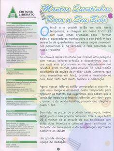 Receita Tricô Fácil Revista TRICOT Especial Mantas Crochê & Tricot 18 Lindas mantas para deixar seu bebê bem quentinho Ideias f...