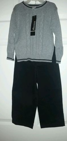 TODDLER BOYS 2 PIECE SWEATER AND PANTS SET SIZE 24 Months BRAND NEW   #FadedBlory #Everyday  Please RePinit, ReTweet and Share on Facebook. Thanks & Have a GREAT Weekend