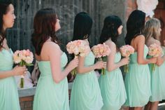 Delicate Color Palette: 45 Peach And Mint Wedding Ideas | HappyWedd.com