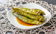 This isn't your typical pickled pepper. #Gochu Jangajji is a little sweet and salty with a bit of heat. It's delicious with a warm bowl of rice.