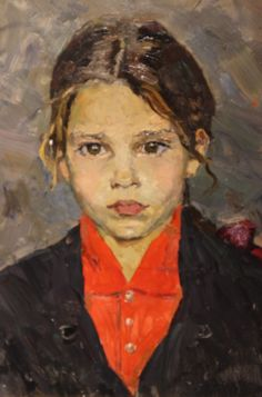 """This """"Portrait of Lena"""" by Shevandonova (1928-1993) will captivate you. The Institute of Russian Realist Art is a beautiful new museum with a wonderful collection, nice coffee shop and proud employees. Must see."""