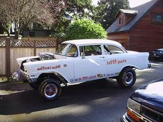 1956 Chevy Bel Air Gasser - I had a very fast '56 but it was far more streetable. This is nice though.