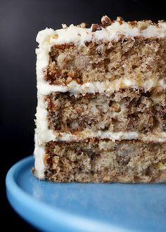 Hummingbird Layer Cake -------  Best. Cake. Ever.   Pineapple-banana-pecan cake layered with cream cheese frosting.