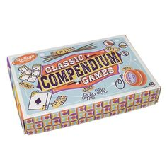 *Ridleys House Of Novelties Classic Compendium Of Games *Contains dominoes marbles jacks pick up sticks & a yo yo *Recommended for ages *Vintage style pa Board Games For Kids, Games To Play, Pick Up Sticks, Wooden Boxes, Birthday Wishes, Great Gifts, Toys, Classic, Fun