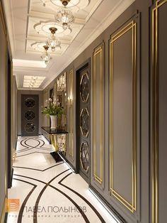 Фото дизайн интерьера холла из проекта «Дизайн квартиры в стиле парадной неоклассики с элементами арт-деко, элитный жилой комплекс «Привилегия», 250»