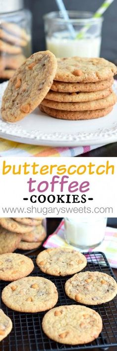 Chewy Butterscotch Toffee Cookies