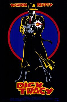 Dick Tracy (1990)  Director: Warren Beatty  Cast:  Warren Beatty, Madonna, Al Pacino, Dustin Hoffman, Charlie Korsmo, William Forsythe, Mandy Patinkin, Catherine O'Hara, James Caan, Dick Van Dyke, Kathy Bates