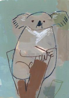 Koala Illustration, Animal Illustrations, Bad Art, Character Development, Animal Design, Printmaking, Sketches, Kawaii, Drawings