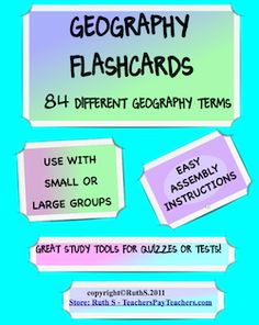 Geography flashcards - Great study tool