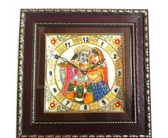Marble Wall Clock is made with high grade marble, these marble Wall Clock set make an impressive gift or exquisite decorative accessory for the home.This marble Wall Clock is adorned with the design of hand-painted Radha and Kishan. - See more at: http://potofgoodies.com/Marble-Artefacts/marble-wall-clock