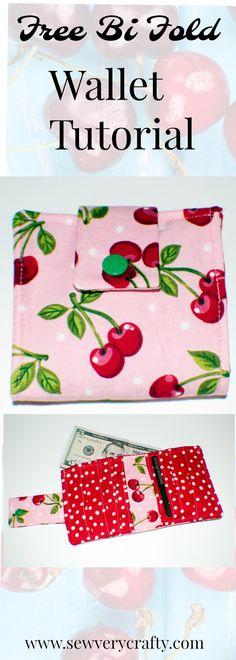 Free Bi Fold Wallet Tutorial - Sew Very Crafty