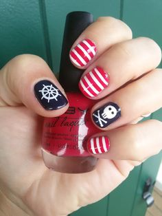 CHIKI88...  my passion for nails!: The nails of the week: Pirates nails!