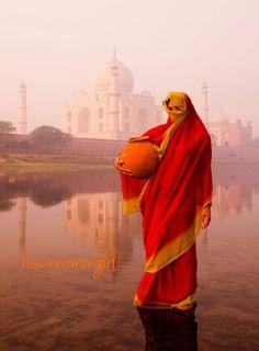 The Taj in the background