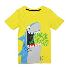 Sale 28% (5.99$) - 2015 New Little Maven Lovely Shark Baby Children Boy Cotton Short Sleeve T-shirt Top