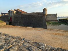 The citadel town of Port Louis in Brittany has a great waterfront run along the old town walls