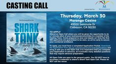 Attend a Shark Tank open call in Cabazon!