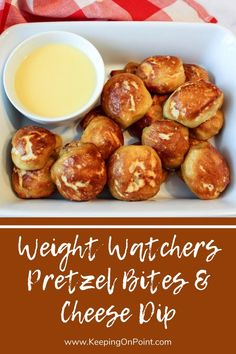 Weight Watchers Pretzel Bites Cheese Dip - this is not made with two ingredient dough! Weight Watchers Appetizers, Weight Watchers Menu, Weight Watcher Dinners, Milk Recipes, Ww Recipes, Cooking Recipes, Cooking Tips, Healthy Recipes, Bacon Recipes