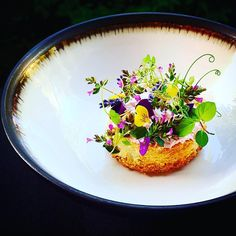 Perfection of food art. Gourmet Recipes, Cooking Recipes, Gourmet Foods, Gourmet Desserts, Plated Desserts, Sushi Recipes, Assiette Design, Beet And Goat Cheese, Molecular Gastronomy