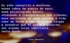 Clara Baccarin #egos