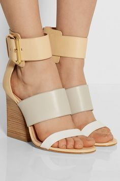SIGERSON MORRISON Poker color-block leather sandals $450