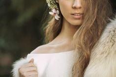 Vestido de novia. Estola de zorro