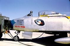 "(s/n Sabre ""Dreaded Gomboo / Sweet Rose "" (Photo collection: Ken Ewing) Sabre Jet, Rose Photos, Korean War, Nose Art, Military Aircraft, Ww2, Air Force, Fighter Jets, Mustangs"
