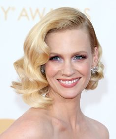 Pin for Later: 5 Retro Hairstyles For Short Hair You'll Want to Copy Now January Jones For a special occasion, you can take a cue from Jones's elaborately styled 'do, which had sculpted curls around her head.