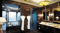 Royal Suite bathroom at Lotte Hotel in Moscow.