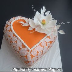 """girandella's Photoset in """"Birthday Cake Photos"""" — Photo 1 of 1 Cake Icing, Fondant Cakes, Cupcake Cakes, Heart Shaped Cakes, Heart Cakes, Fab Cakes, Just Cakes, Gorgeous Cakes, Pretty Cakes"""