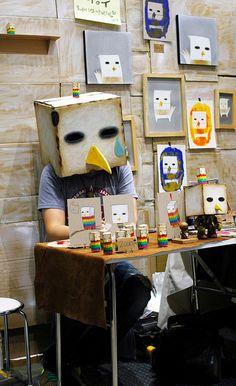 Sad Robot Bird Face ロボット鳥の悲しい顔 Design Festa