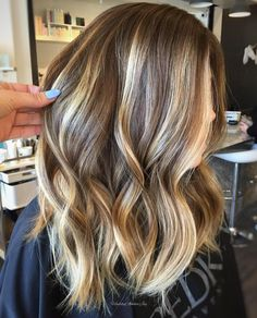 Caramel And Blonde Balayage For Brunettes