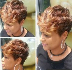 Best 15 Black Girl Short Hairstyles That Easy To Maintain For 2018 Summer , Hey, you! Are you still looking for new short haircut ideas? No more need to search here are the 15 Black Girl Short Hairstyles just gathered for ou. Black Girl Short Hairstyles, Short Sassy Hair, Girls Short Haircuts, Short Hair Cuts, Curly Hair Styles, Natural Hair Styles, My Hairstyle, Hair Affair, Relaxed Hair
