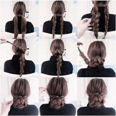 25 coole Frisuren für den Sommer 2019 25 cool hairstyles for the summer of 2019 Cute Simple Hairstyles, Stylish Hairstyles, Summer Hairstyles, Cute Updos Easy, Easy Bun Hairstyles For Long Hair, Wedding Hairstyles, Easy Updos For Medium Hair, Hairstyles 2016, Hair Arrange