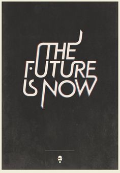 I Love Ligatures / The Future is Now experimental Typography by Ben Crick #typography #ligatures