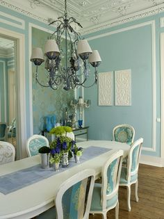 Lizzieschwegman House Of Turquoisebeautiful Dining Roomsrobins Eggtiffany Bluedining