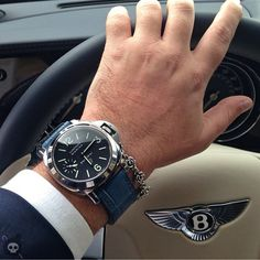 #Panerai on my driving hand. #Bentley