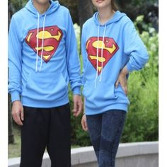 TH-9489 / 1 superman couple hoodie