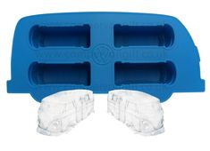 Campervan Ice Cube Tray / Cooking Mold - Producing Four Fantastic Campervan Ice Cubes